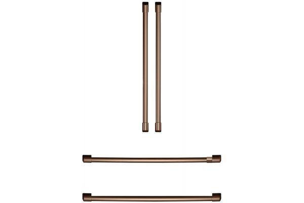 Large image of Cafe Refrigeration Brushed Copper Handle Kit - CXQB4H4PNCU