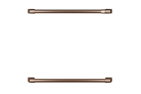 """Large image of Cafe Brushed Copper 27"""" Wall Oven/Advantium Oven Pro Handle Kit - CXWD7H0PNCU"""