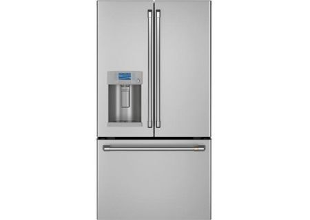 Cafe 22.2 Cu. Ft. Stainless Steel Counter-Depth French Door Refrigerator - CYE22TP2MS1