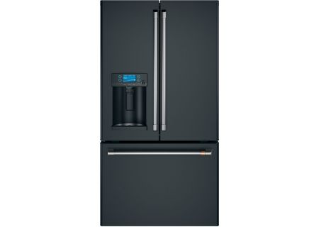 Cafe 22.2 Cu. Ft. Matte Black And Stainless Steel Counter-Depth French Door Refrigerator - CYE22TP3MD1