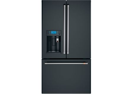 Cafe 22.2 Cu. Ft. Matte Black And Stainless Steel Counter-Depth French Door Refrigerator - CYE22UP3MD1