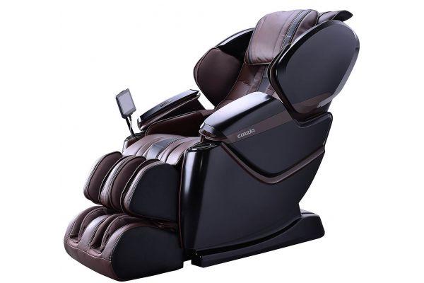 Cozzia ZEN SE Espresso/Midnight Blue Reclining Massage Chair - CZ-640-EM