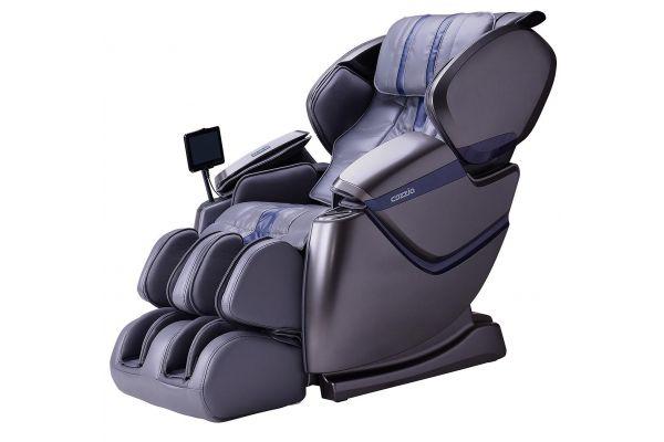 Large image of Cozzia ZEN SE Grey/Grey Blue Reclining Massage Chair - CZ-640-GDG