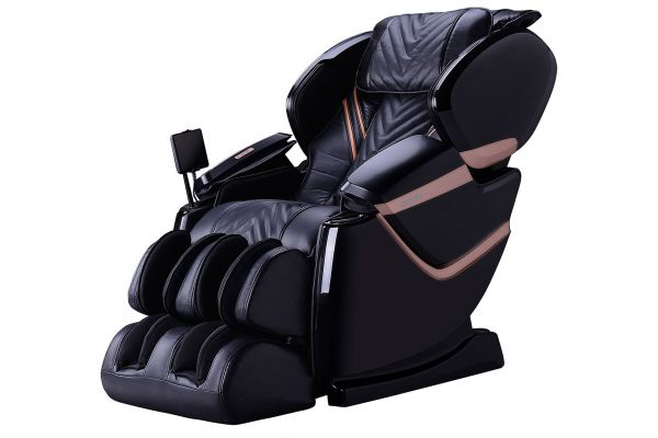 Cozzia ZEN Black/Black Pearl L-Track Air Massage Chair - CZ-641-BBP