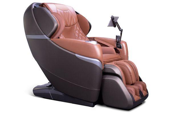 Cozzia Qi Caramel/Antique Brass Reclining Massage Chair - CZ-730/QI-CAB