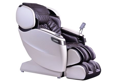 Cozzia Qi SE Espresso And White Pearl Reclining Massage Chair - CZ710-8930