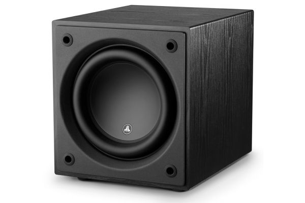 "Large image of JL Audio Dominion d110 Black Ash 10"" Powered Subwoofer - 96283"