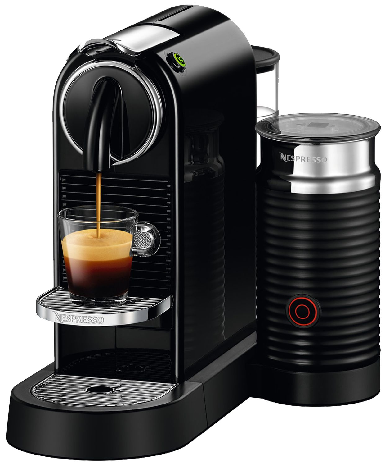 nespresso citiz milk black espresso machine d122 us bk ne. Black Bedroom Furniture Sets. Home Design Ideas