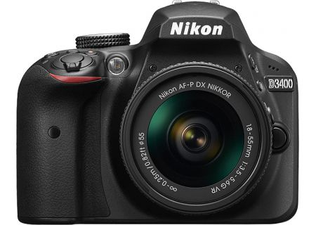 Nikon D3400 Black Digital SLR Camera With 18-55mm VR Lens Kit - 1571