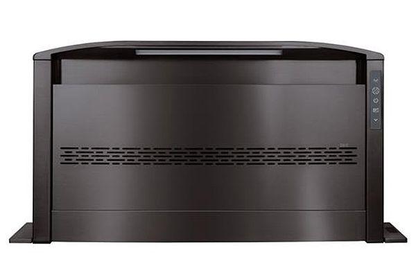 "Large image of Best 36"" Cattura Black Stainless Steel Downdraft Ventilator - D49M36BLS"