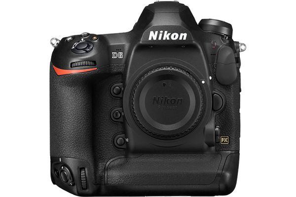 Large image of Nikon D6 20.8 Megapixel Black Digital SLR Camera Body - 1624