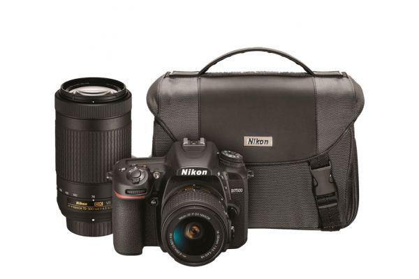 Nikon D7500 Black Digital SLR With Dual Zoom Lens Kit - 13543