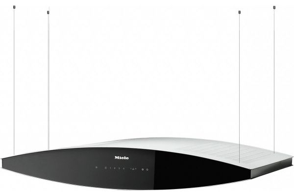"Large image of Miele 40"" Black And White Aura AM Ventilation Island Hood - 09545730"