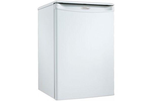 Large image of Danby Designer 2.6 Cu. Ft. White Compact Refrigerator - DAR026A1WDD