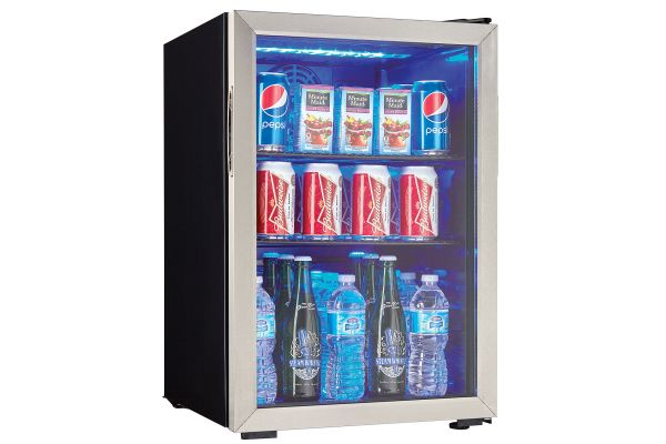 Large image of Danby 95 Can Stainless Frame Beverage Center - DBC026A1BSSDB