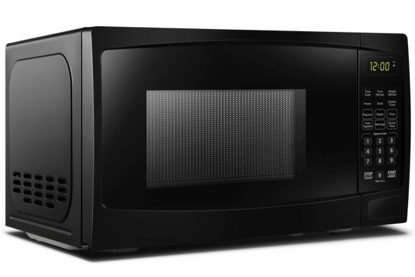 Large image of Danby 0.7 Cu. Ft. Black Countertop Microwave - DBMW0720BBB