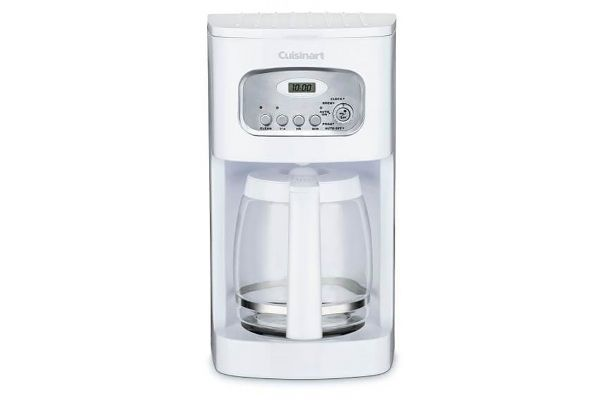 Large image of Cuisinart White 12 Cup Programmable Coffeemaker - DCC1100P1
