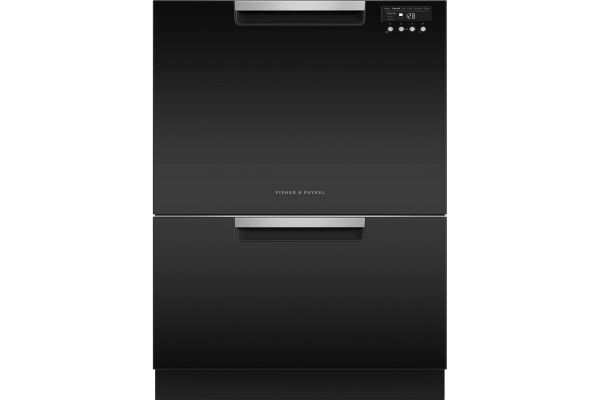 """Large image of Fisher & Paykel Series 7 24"""" Black Tall Double DishDrawer Dishwasher - DD24DCTB9N"""