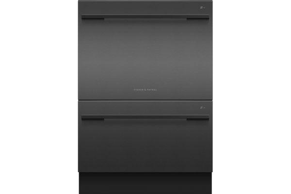 "Fisher & Paykel 24"" Black Stainless Steel Double DishDrawer Dishwasher - DD24DDFTB9_N"