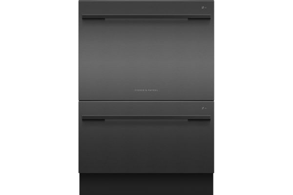 """Large image of Fisher & Paykel Series 7 24"""" Black Stainless Steel Tall Double DishDrawer Dishwasher - DD24DDFTB9N"""