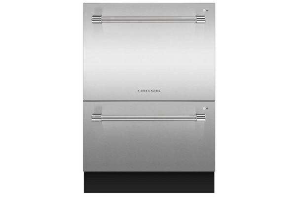 """Fisher & Paykel 24"""" Stainless Steel Tall Double DishDrawer Dishwasher - DD24DV2T9N"""