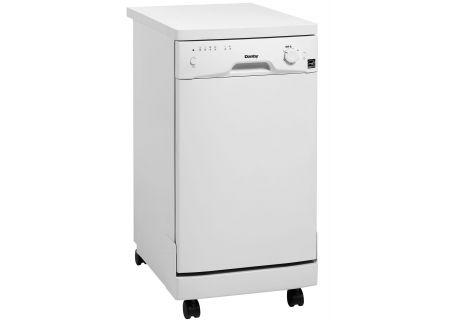 """Danby 18"""" White Portable Dishwasher  - DDW1801MWP"""