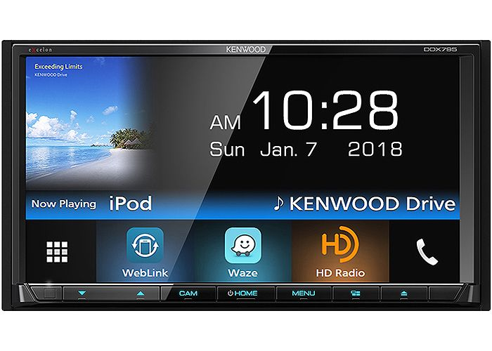 Kenwood Excelon Double Din In Dash Bluetooth Dvd Receiver