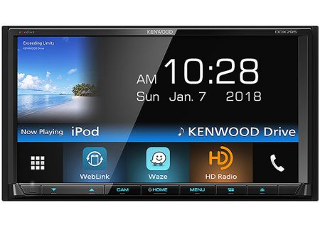 Kenwood eXcelon Double DIN Monitor In-Dash Bluetooth DVD Receiver - DDX-795