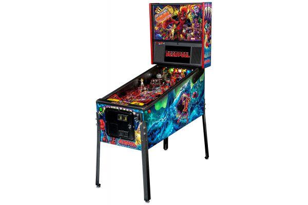 Large image of Stern Pinball Deadpool Premium Edition Pinball Machine - DEADPOOLPREM