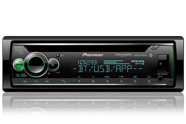 Large image of Pioneer Black CD Receiver With Built-In Bluetooth - DEH-S6220BS