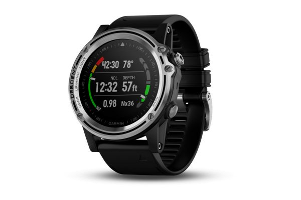 Large image of Garmin Descent Mk1 Silver Sapphire with Black Band Dive Watch - 010-01760-00