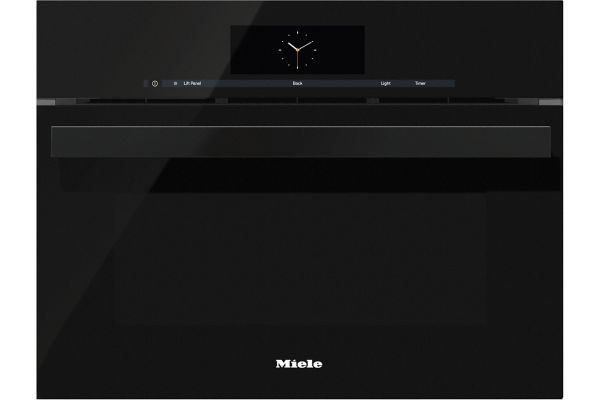 """Large image of Miele 24"""" Obsidian Black Combination Steam Oven XL - 10256800"""