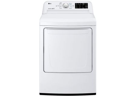 LG White Ultra Large Capacity Electric Dryer - DLE7100W