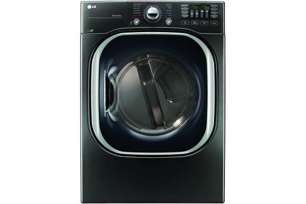 LG Black Stainless Steel Electric TurboSteam Dryer - DLEX4370K