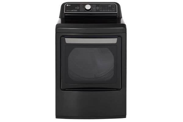 Large image of LG TurboSteam Dryer - 7.3 Cu. Ft. Black Steel Smart Electric - DLEX7900BE