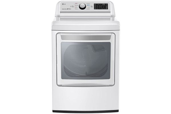 Large image of LG 7.3 Cu. Ft. White Smart Wi-Fi Enabled Gas Dryer With Sensor Dry Technology - DLG7301WE