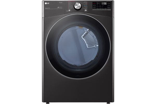 Large image of LG 7.4 Cu. Ft. Black Steel Smart Wi-Fi Enabled Front Load Gas Dryer With TurboSteam And Built-In Intelligence - DLGX4201B