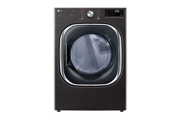 Large image of LG 7.4 Cu. Ft. Black Steel Smart Wi-Fi Enabled Gas Dryer With TurboSteam & Built-In Intelligence - DLGX4501B