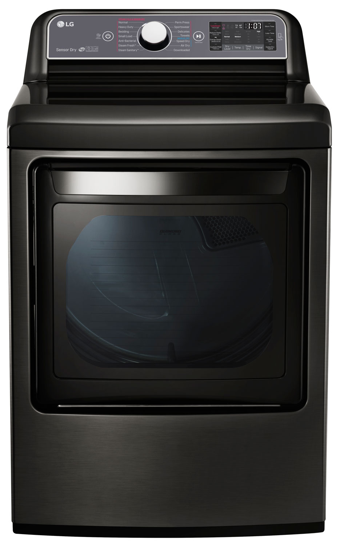 Lg 7 3 Cu Ft Black Stainless Gas Dryer Dlgx7601ke