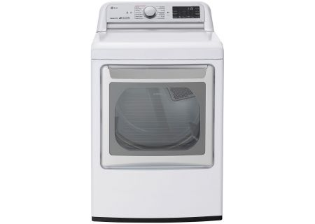 LG White Electric Dryer With TurboSteam - DLEX7800WE