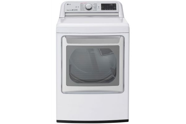 Large image of LG White Gas Dryer With TurboSteam - DLGX7801WE