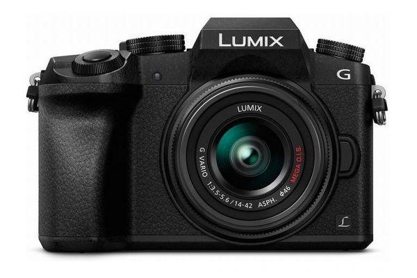 Large image of Panasonic Lumix G7 4K Mirrorless Interchangeable Lens Camera Kit With 14-42mm Lens - DMC-G7KK