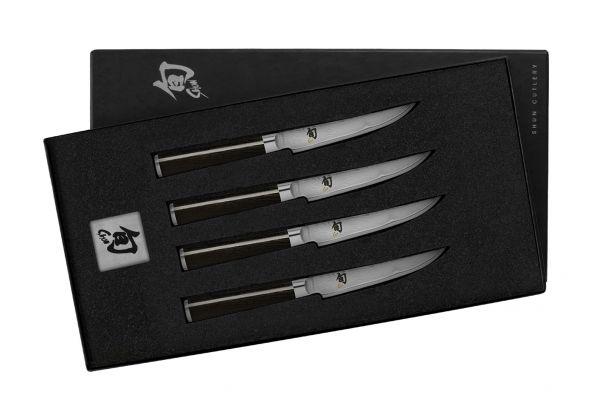 Large image of Shun Classic 4-Piece Steak Knife Set - DMS400