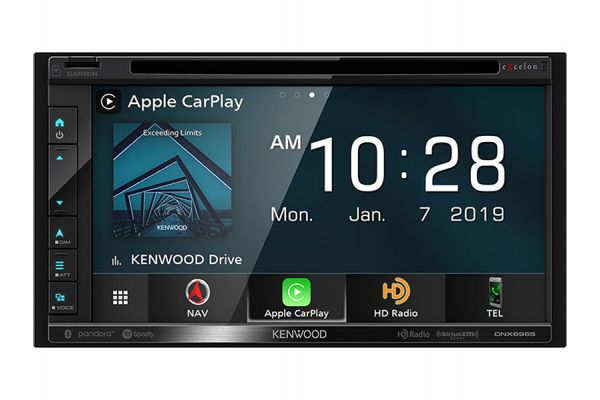 Kenwood eXcelon In-Dash Navigation DVD Receiver With Bluetooth - DNX-696S