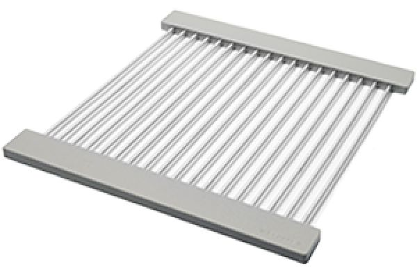 Large image of The Galley Grey Resin Dual-Tier Aluminum Drying Rack - DR-17-D-GR