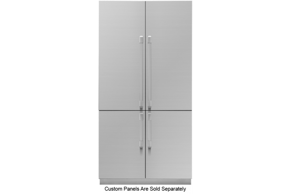 """Large image of Dacor Contemporary 42"""" Panel Ready Built-In 4-Door French Door Refrigerator With SteelCool - DRF427500AP/DA"""