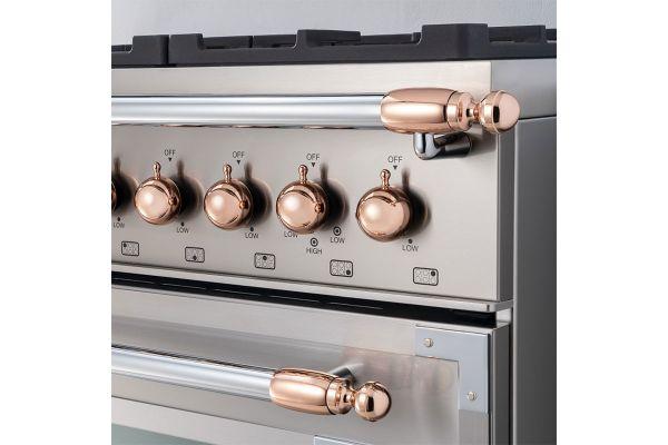 Large image of Bertazzoni Collezione Metalli Copper Decor Set For Range And Hood - DS1HERTPC