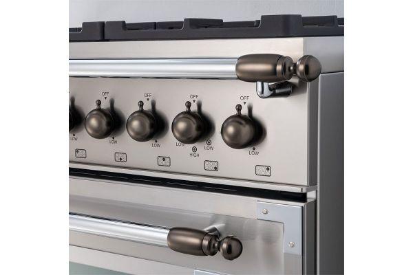Large image of Bertazzoni Collezione Metalli Black Nickel Decor Set For Range And Hood - DS1HERTSB