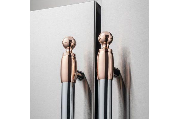 Large image of Bertazzoni Collezione Metalli Copper Decor Set For Refrigerator And Dishwasher - DS2HERTPC