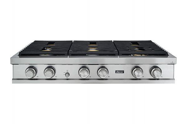 """Large image of Dacor Contemporary 48"""" Stainless Steel Natural Gas Rangetop - DTT48M876LS"""